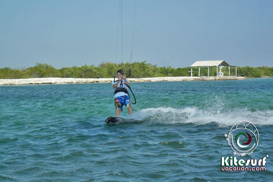 Kitesurfing In Rio Lagartos And San Felipe Yucatan Mexico