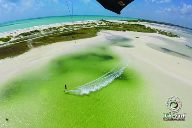 Isla Blanca a kitesurfing paradise go pro